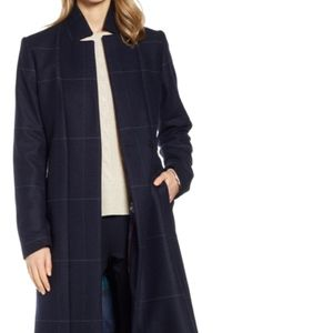 Ted Baker Checked Tie Waist Trench Coat Size 1